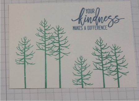 stamped trees